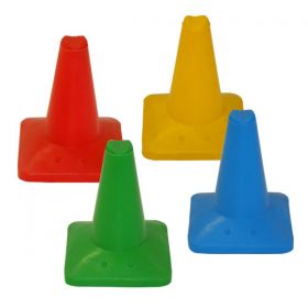Heavy Duty Weighted Coloured Plastic Cone 12""