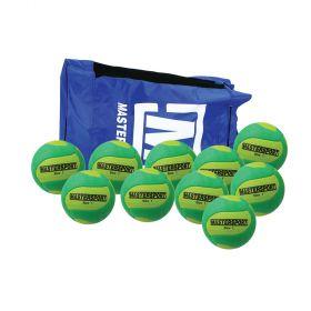 MasterSport Tchoukball UK Ball - Size 1, Bag of 10
