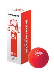 Dunlop Fun Mini Squash Ball - Pack of 3