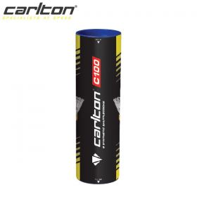 Carlton C100 White Badminton Shuttlecocks - Medium Speed - Tube of 6