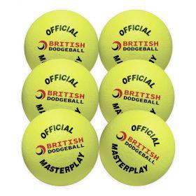 British Dodgeball Masterplay Dodgeball - Yellow , Set of 6