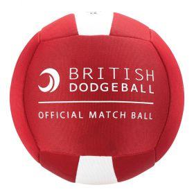 British Dodgeball Match Ball - Red/White, Size 2