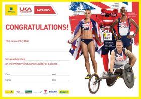 British Athletics Awards Endurance Primary Certificates - Pack of 50