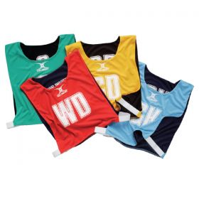 Gilbert Reversible Netball Bibs - Set of 7