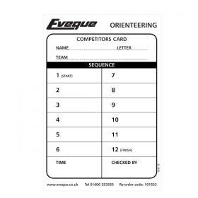 Orienteering Competitors Cards