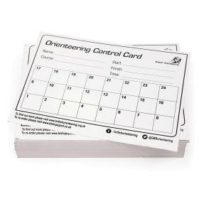 British Orienteeringbust School Control Cards - Set of 100