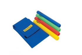 Relay Batons in Wallet Coloured Plastic Set of 4