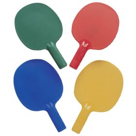 Plastic Table Tennis Shaped Bats - Pack of 4