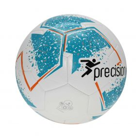 Precision Fusion Training Football - White/Cyan/Orange/Grey