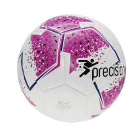 Precision Fusion Training Football - White/Pink/Purple/Grey