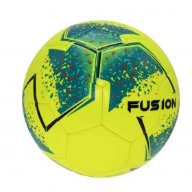 Precision Fusion Training Football - Yellow/Teal/Cyan/Red