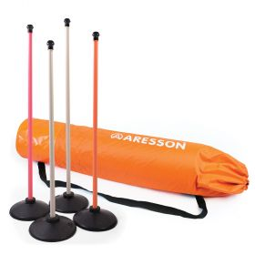 Aresson Plastic Rounders Post and Base Set with Bag - 90cm Mixed