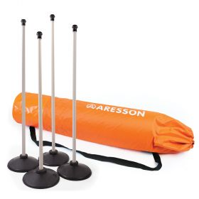 Aresson Plastic Rounders Post and Base Set with Bag - 90cm White