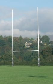 Socketed No.1 Steel Rugby Posts - 10m high