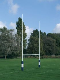 Hinged No.2a Steel Rugby Posts - 9m high