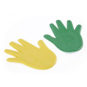 Activate Dimpled Hand  Yellow and Green - Pair