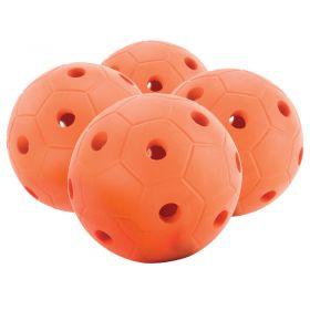 Skinned Foam Bell Ball  200mm, Orange, Set Of 4