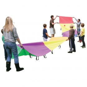 Rainbow Wave Parachute 8m x 1m - 30 Handles