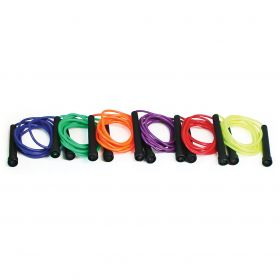 Coloured Plastic Skipping Ropes - Set of 6