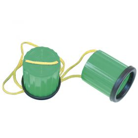 Plastic Non-Slip Stilts - Green