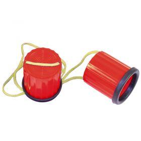 Plastic Non-Slip Stilts - Red