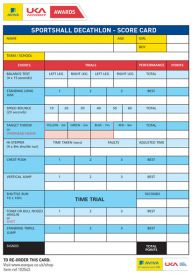 British Athletics Awards Sportshall Primary/Secondary Scorecard - Pack of 50