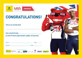 British Athletics Awards Sportshall Primary Certificate